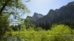 Stock Video Footage of Yosemite LM03 Valley View Merced River Bridalveil Fall
