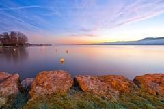 Lake Geneva Sunrise Kuvituskuvat