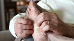 Massaging Foot - stock footage