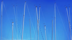 Yacht masts Stock Footage