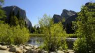 Yosemite LM04 Dolly Circular L Valley View Merced River Bridalveil Fall Stock Footage