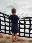 ferry rider - stock photo