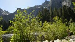 Yosemite LM06 Dolly CIrcular L Valley ViewMerced River Stock Footage