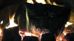 Log Fire Stock Footage