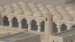 Timelapse The State Mosque of Qatar and traffic car in Doha Stock Footage