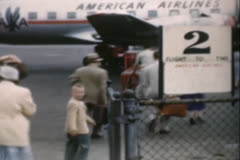 American Airlines  circa 1950's Stock Footage
