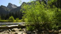 Yosemite LM08 Dolly CIrcular L Valley View Merced River Bridalveil Fall Stock Footage