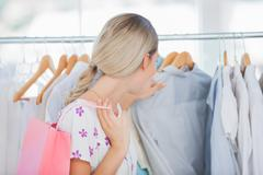 Stock Photo of Woman shopping