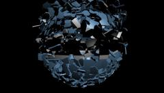 Stock Video Footage of Botswana flag sphere converging animation