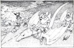 Sky Battle - stock illustration