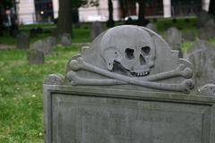 Freedom Trail Tombstone - stock photo