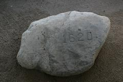 Plymouth Rock 1620 - stock photo