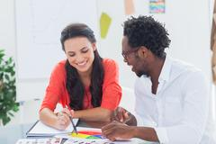 Cheerful designers working together Stock Photos