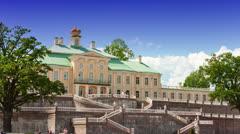 Russia. Petersburg.  Big Menshikovsky palace. Time lapse. Stock Footage