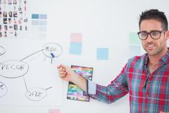 Stock Photo of Interior designer presenting a chart