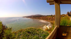 Ocean And Coast View From Point Fermin Park- San Pedro CA Stock Footage