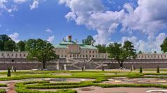 Russia. Petersburg. Oranienbaum. Big Menshikovsky palace. Time lapse. Stock Footage