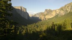 Yosemite LM17 Tunnel View Timelapse Bridalveil Fall El Capitan Stock Footage