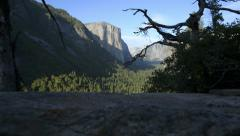 Yosemite LM19 Dolly Down Tunnel View El Capitan Stock Footage