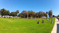 Wide Angle Point Fermin Park On A Sunny Summer Day- San Pedro CA Stock Footage