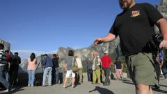 Yosemite LM25 Dolly Circular L Tunnel View Crowd Editorial Stock Footage