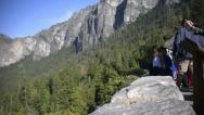 Yosemite LM26 Dolly Circular L Tunnel View Crowd Editorial Stock Footage