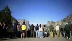 Yosemite LM27 Dolly Circular L Tunnel View Crowd Editorial Stock Footage