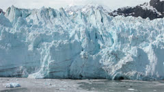 Cruise along Margerie Glacier Glacier Bay Alaska fast motion HD 1412 Stock Footage