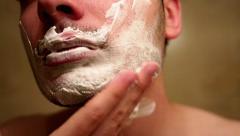 Shaving Cream Stock Footage