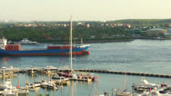 Stock Video Footage of Cargo ship in Miami