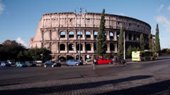 Rome Colosseum Stock Footage