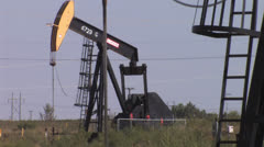 Oil well five - stock footage