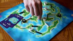 Strategic Board Game Stock Footage