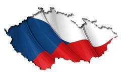 czech map-flag - stock illustration