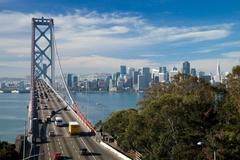 san francisco -  the bay bridge - stock photo