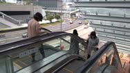 Fast motion of Busy escalators in Hong Kong, China Stock Footage