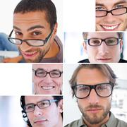 Stock Photo of Collage of different pictures of attractive men