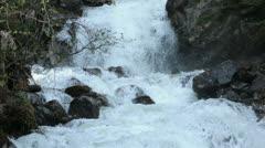 Glacial Waterfall Skagway Alaska Reid Falls HD 7154 Stock Footage