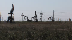 Oil wells seven Stock Footage