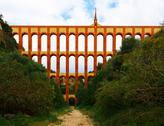 Stock Photo of aqueduct named el puente del aguila in nerja, andalusia, spain