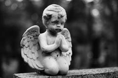 Angel Gravestone - stock photo