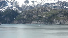 Glacier Bay Holland American cruise passing icebergs fast HD 1419 Stock Footage