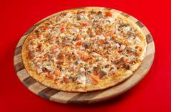 pizza neat's tongue - stock photo