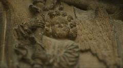 Angel medieval detail reveal Stock Footage