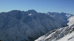 Tirol mountain panorama Stock Footage