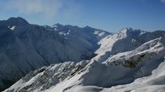 Tirol mountains pan right Stock Footage
