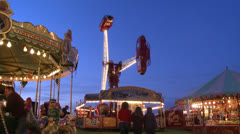 Vintage Fairground in the UK Stock Footage