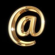 Stock Illustration of golden ampersand on black