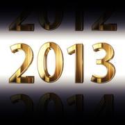 Stock Illustration of year 2013