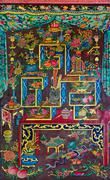 Thai-chinese style painting Stock Photos